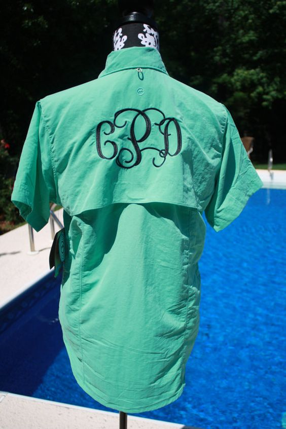 Custom embroidered monogrammed fishing magellan swim shirt for Magellan fishing shirts