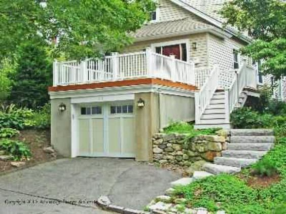 Garage with rooftop deck home things to do pinterest for Flat roof garage with deck plans