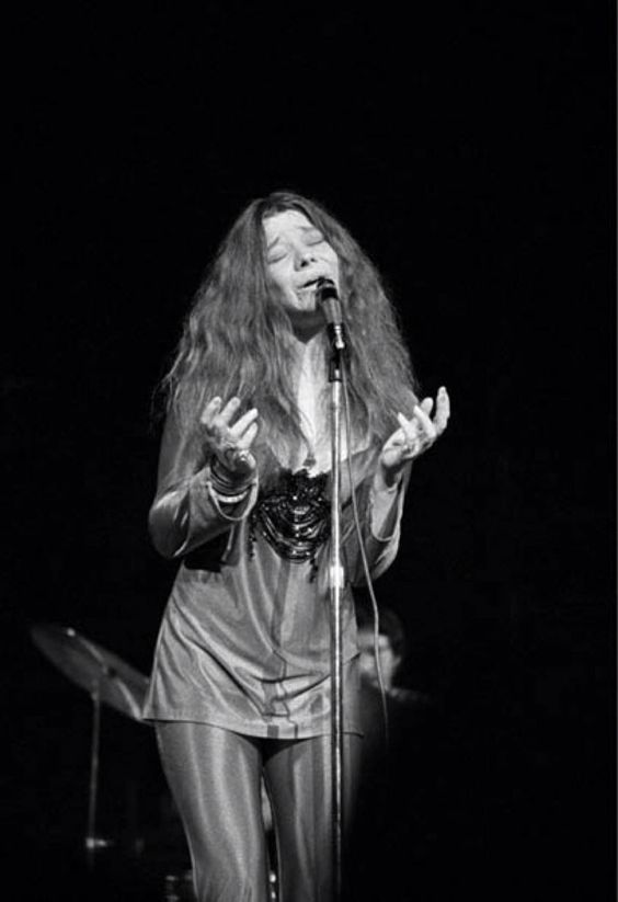 The great Janis. Royal Albert Hall, April 21, 1969.  Her face says it all.: