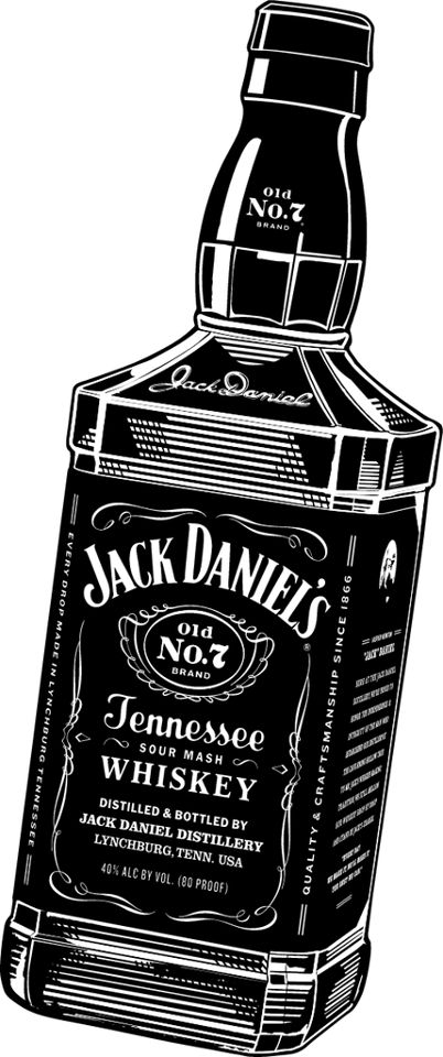 jack daniels bottle drawing - photo #5
