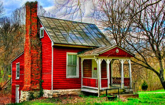 Little red house by ☩ D L Ennis