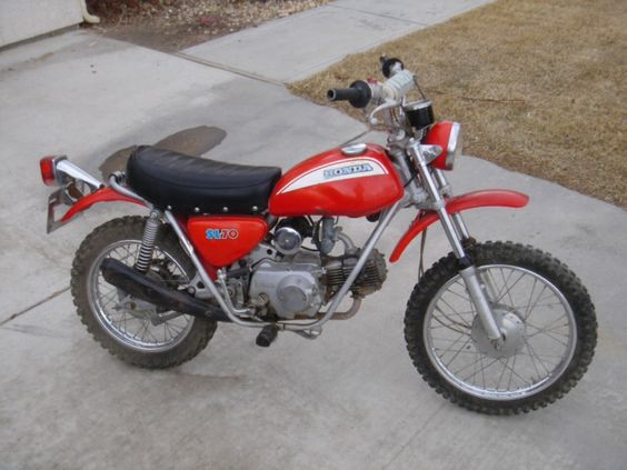 Honda sl70k0 70cc honda 39 s answer to yamaha 39 s mini enduro for Yamaha mini dirt bikes