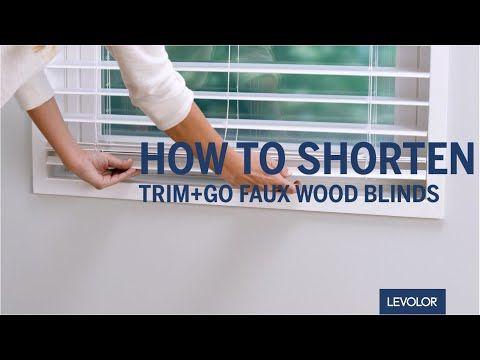 How To Shorten Levolor Trim Go Faux Wood Blinds Youtube Faux