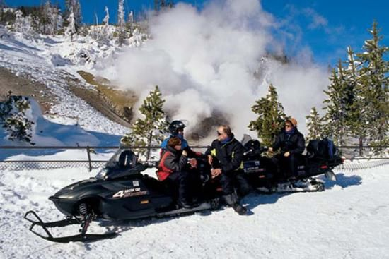 Snow mobiling...