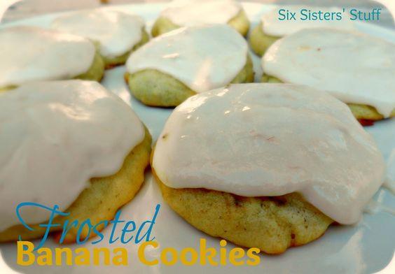 Six Sisters' Stuff: Frosted Banana Cookies YUMMmmmm