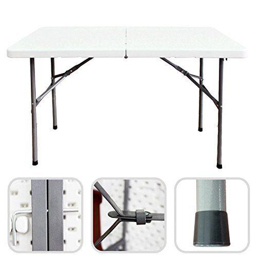 Table traiteur pliante 124 cm table buffet camping - Table pliante pour exposition ...
