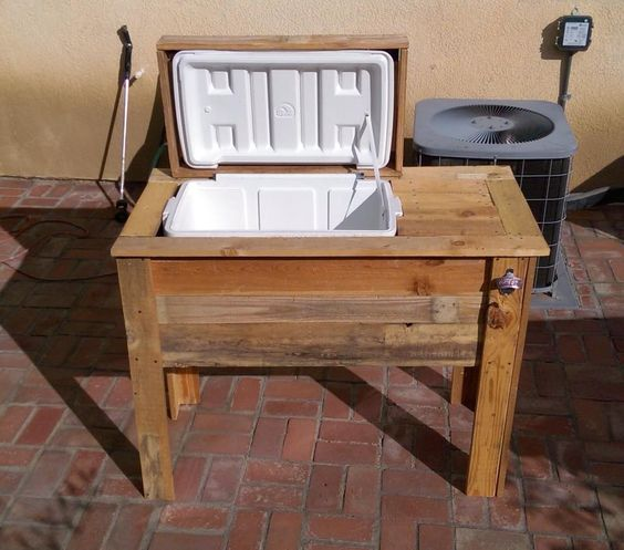 DIY Pallet Cooler Stand / Ice Chest | 101 Pallet Ideas