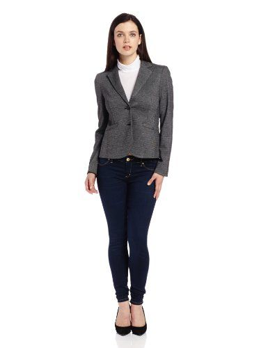 Jones New York Women's Long Sleeve Boyfriend with 2 Btns W Faux, Charcoal, 14 Jones New York, FASHION INSPIRATION if you wish to buy just CLICK on AMAZON right HERE http://www.amazon.com/dp/B00FWIV496/ref=cm_sw_r_pi_dp_TisNsb0406A09SR1