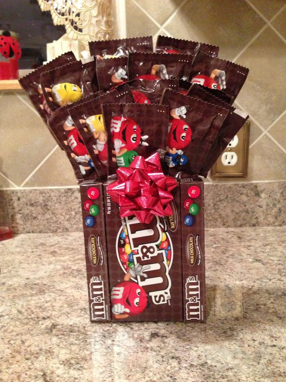 M candy and bouquets on pinterest