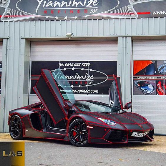 Red Tron Lamborghini Aventador Lp700-4Owner @therealksi