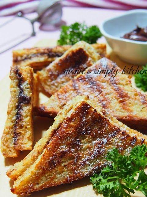 Resep French Toast Isi Selai Roti Panggang Makanan Dan Minuman Makanan Jalanan