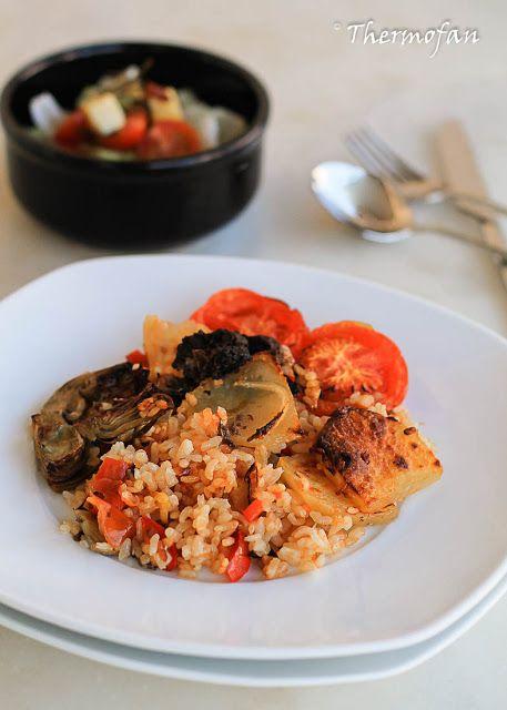 THERMOFAN: Arroz al horno de verduras con toque de morcilla s...