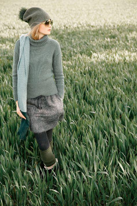 Lässiger Pullover aus Seide