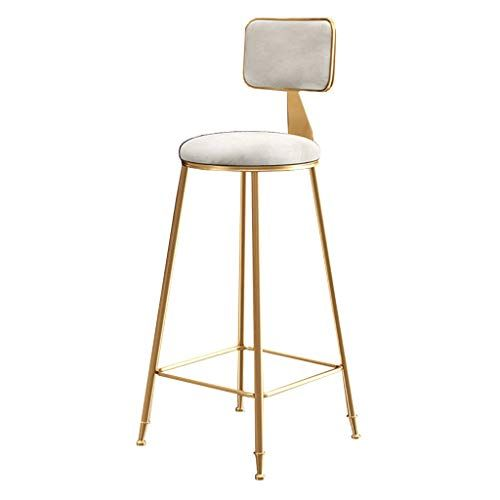 Youyouxiu Bar Stools Chair Metal Counter Tall Chairs For Kitchen Pub Breakfast Front Desk Stools Backrest Footrest Whit Bar Stool Chairs Tall Chairs Desk Stool