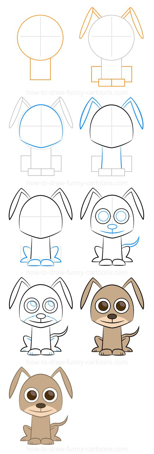 how to draw foxy x chihuahua dog