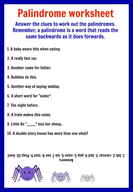 Worksheets Palindrome Riddles Worksheet palindrome riddles worksheet virallyapp printables worksheets printable and kid activities on pinterest palindromes worksheets
