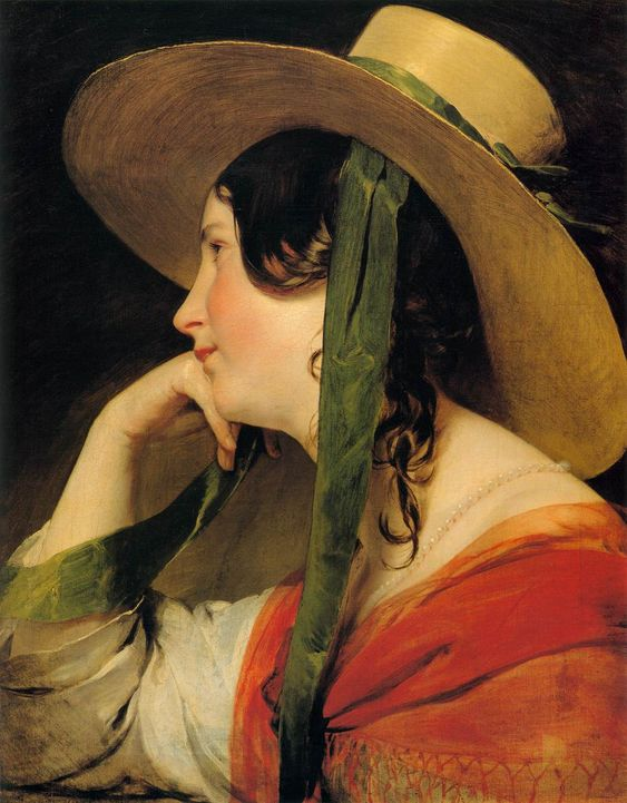 Friedrich von Amerling (April 14, 1803 – January 14, 1887)Girl in Yellow Hat