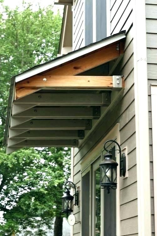 Image Result For Rustic Pergola Over Garage Door Door Overhang Diy Awning House Exterior