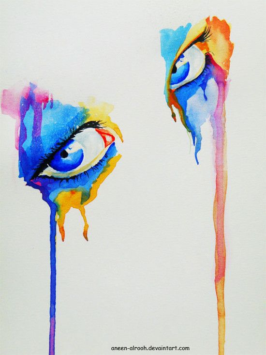 What artists paint pictures of eyes?