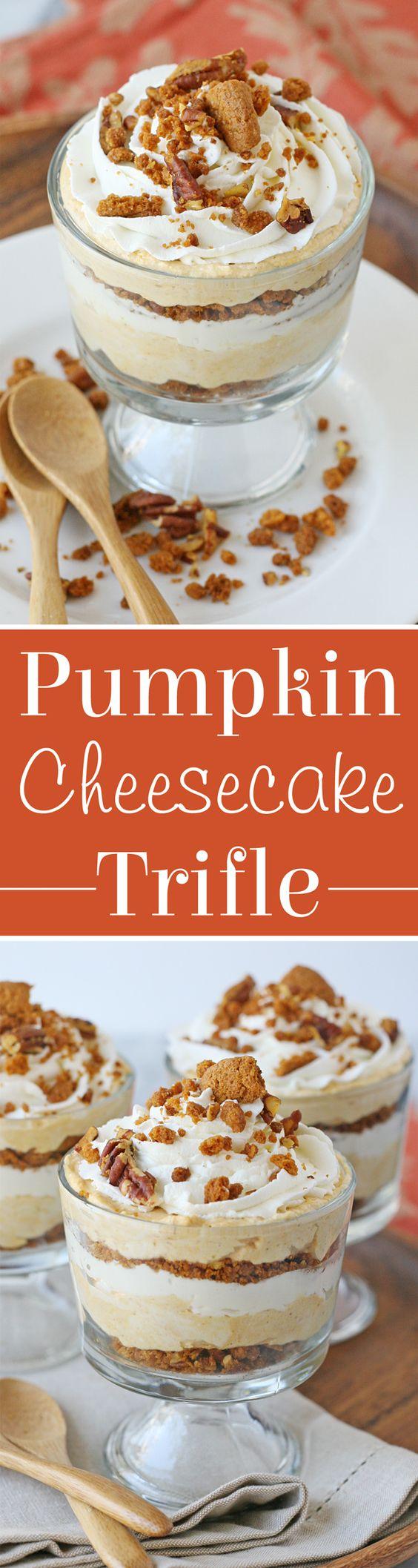 pumpkin pumpkin pumpkin and more cheesecake trifle pumpkin cheesecake ...