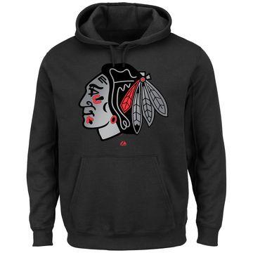 Majestic Chicago Blackhawks Game Reflex Pullover Hoodie - Black