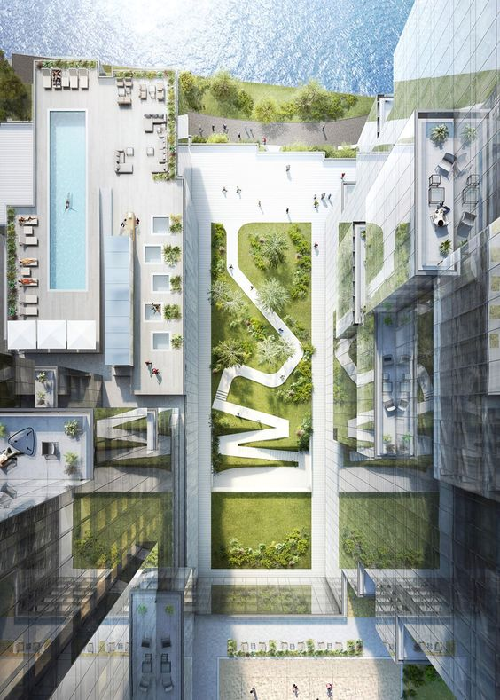 moderne landschaftsarchitektur – skulpturaler stadtpark in den usa,
