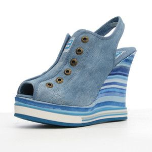 PS Luvme Wedge Light Blue now featured on Fab.