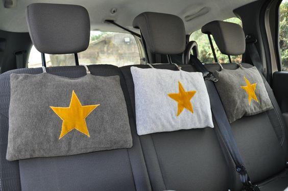 coussins pour la voiture a accrocher l 39 appui t te quand. Black Bedroom Furniture Sets. Home Design Ideas