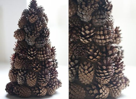 pinecone tree for Christmas