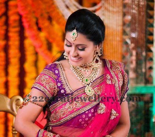 Jewellery Designs: Sneha Kundan Polki Necklace | Indian ...