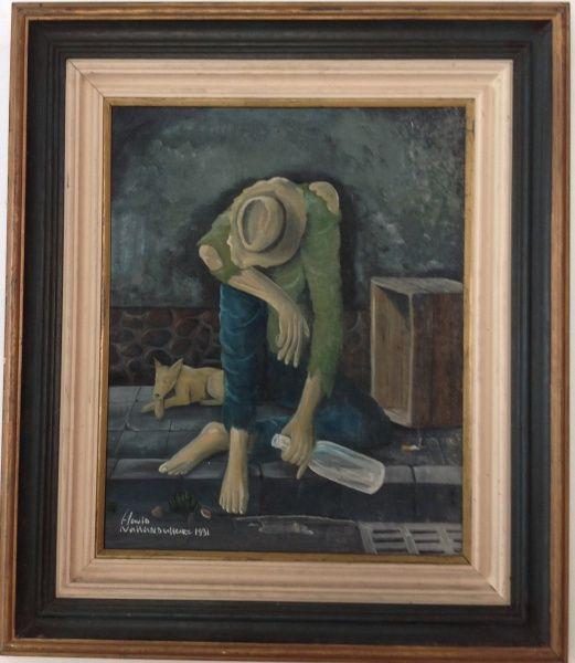 """Flávio Nakandakare-O.S.T-""""Retrato"""" 1991- lindo trabalho pintado com a boca ."""