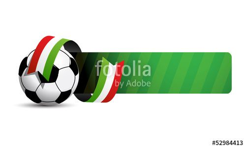 Vektor: fussball sport button italia