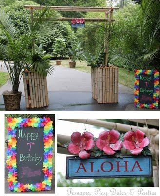 real parties amazing backyard luau
