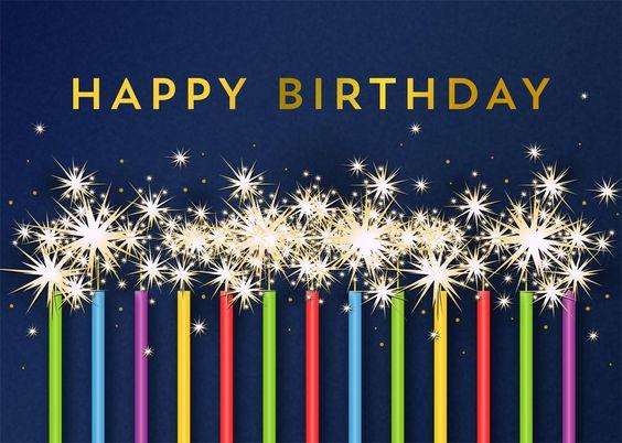 Blue Birthday Sparklers - Birthday from CardsDirect