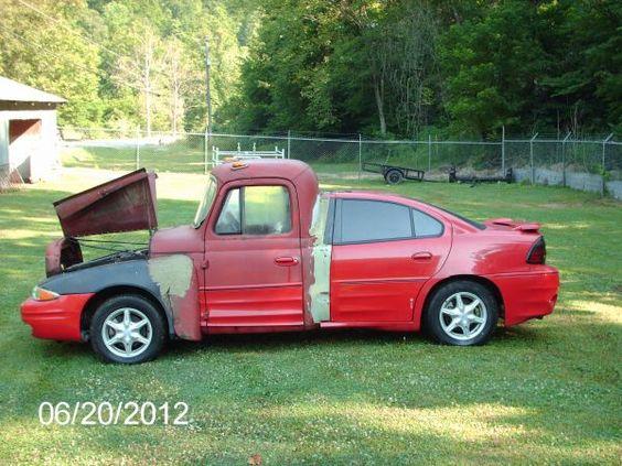 Half truck, half car, fully useless. Available on Craig's list for 3000$