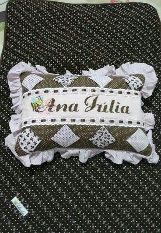 Almofadinha para bebe personalizada