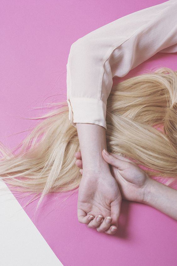 art direction | blonde + pink fashion still life photography