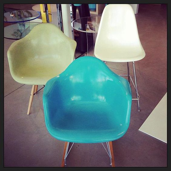 Fiberglass Chairs by Modernica at Just Modern