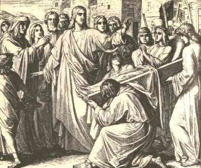 """September 17th - Luke 7:31-35: Jesus said to the crowds: """"To what shall I compare the people of this generation? What are they like? They are like children who sit in the marketplace and call to one another,  'We played the flute for you, but you did not dance. We sang a dirge, but you did not weep.'"""