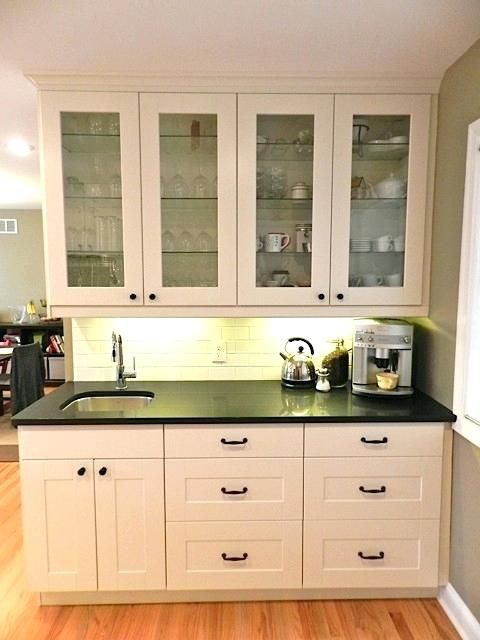 White In Traditional Ikea Wet Bar Sink