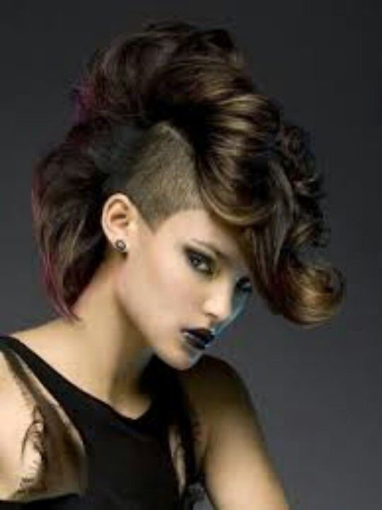 Cool The Top Shaved Sides And Punk On Pinterest Short Hairstyles For Black Women Fulllsitofus