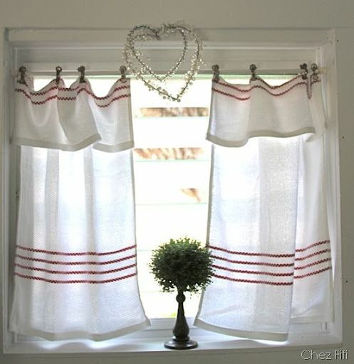 Kitchen Curtains Tension Rod: Tea Towels, Towels And Curtains On Pinterest