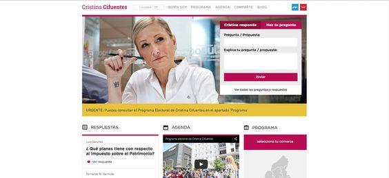 Página Web de Cristina Cifuentes, candidata del PP a la Comunidad de Madrid.