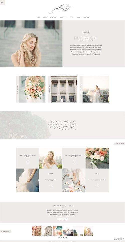 Stunning Simple Stand Out Photography Website Template For Showit Co Lig Photography Website Design Simple Website Design Free Photography Website Templates