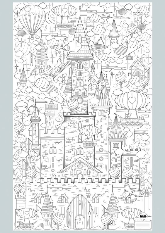 Coloring Pages For Adults Castle : Castles king and paisley coloring pages on pinterest