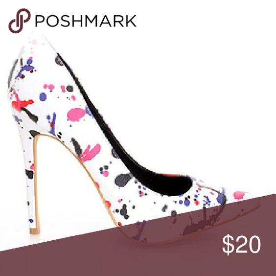White Rossa Heels Pointy toe front Shoerepublic Shoes Heels