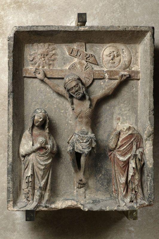 Crucificcion amb la Verge e Sant Joan (15e sègle, Musèu dels Augustins, Tolosa)