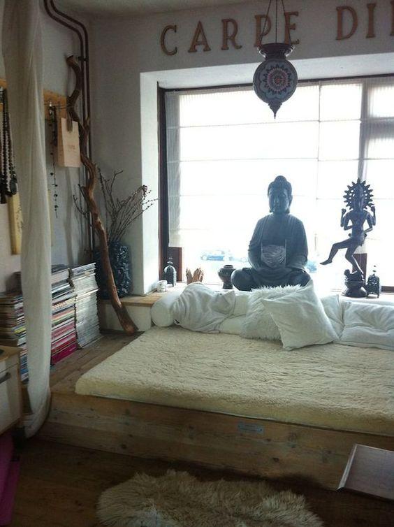 Buddha Themed Meditation Room Inspiration | InMySacredSpace.com | #InMySacredSpace