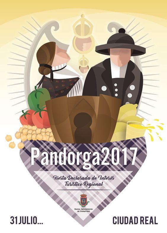 Patricia Ruiz e Iñaki Fernández diseñadores de los Carteles de Pandorga y Feria 2017 de Ciudad Real