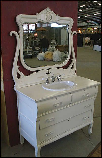 bathroom vanity from old dresser